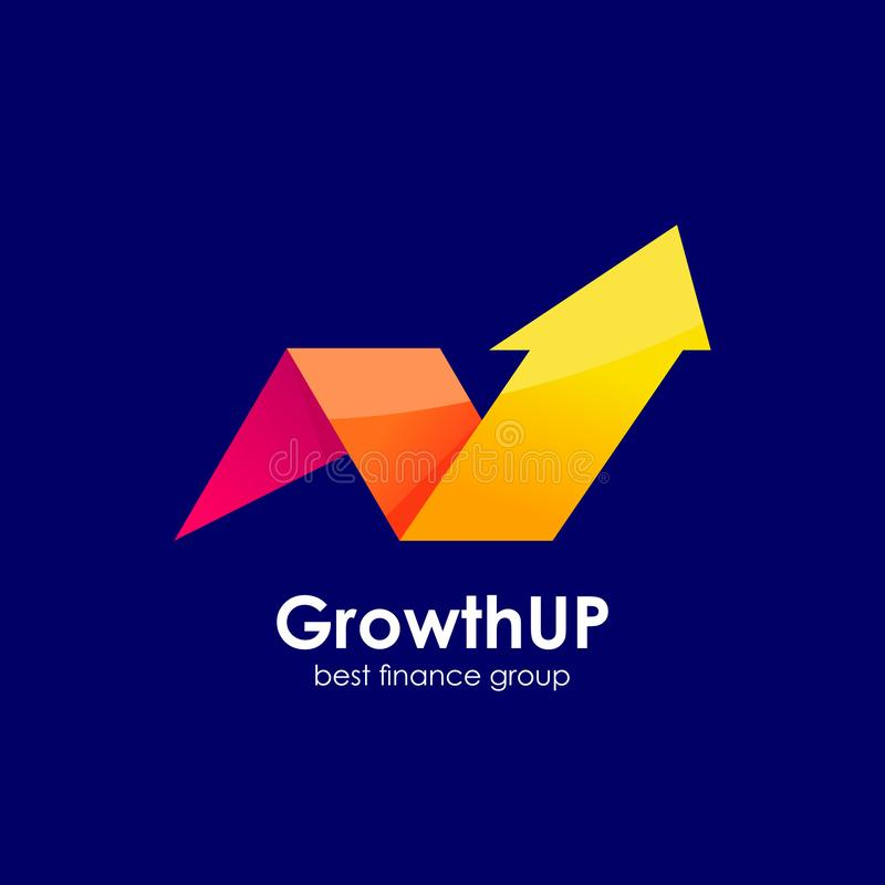 biznesowy ostrosłupa logo projektuje szablon biznesowy marketingu i finanse loga projekt ilustracja wektor