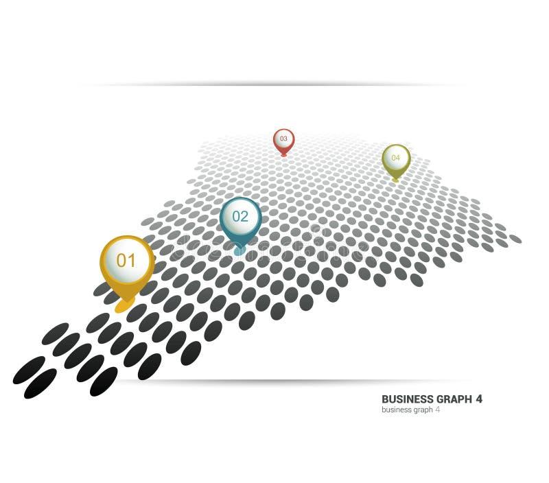 Biznesowy płaski wykres Minimalistic mapa ilustracja wektor