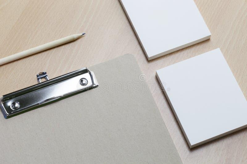 Biznesowy papierowy przedmiot, tożsamość dato che projektant grafik komputerowych, presen obrazy stock