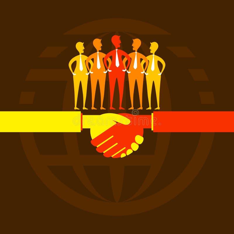 Biznesowy partnerstwa pojęcia projekt royalty ilustracja