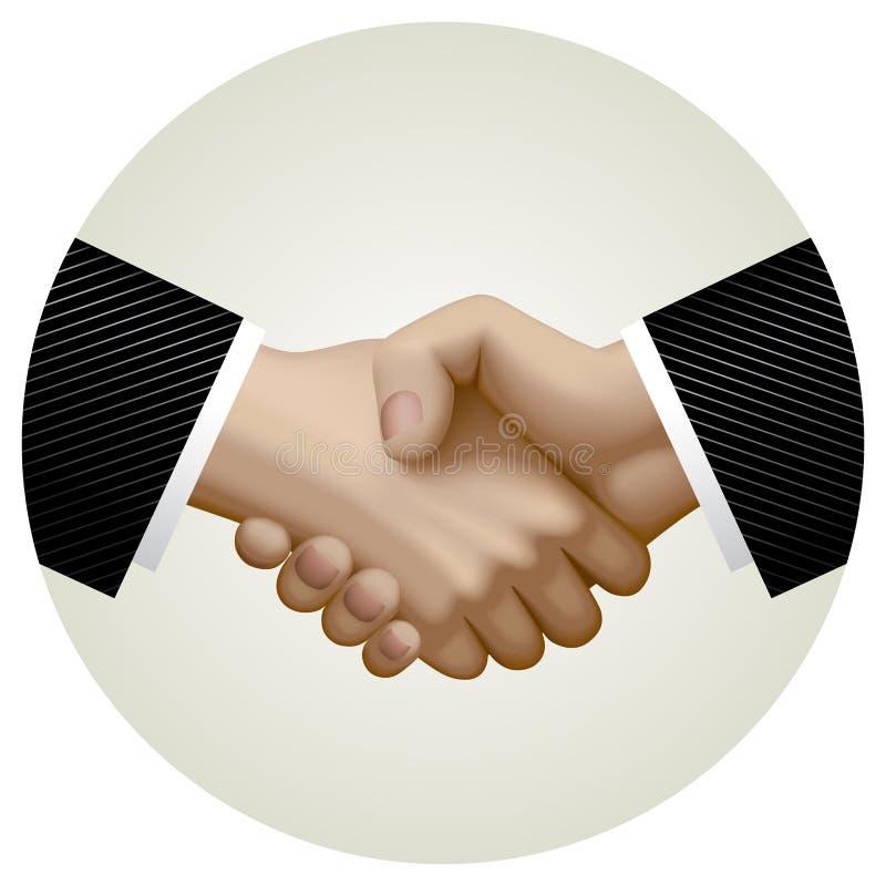 Biznesowy partnerstwo uścisk dłoni w okręgu ilustracja wektor