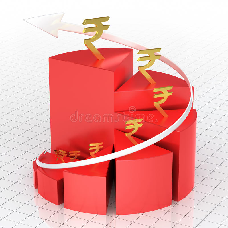 Biznesowy pasztetowy wykresu bar ilustracja wektor