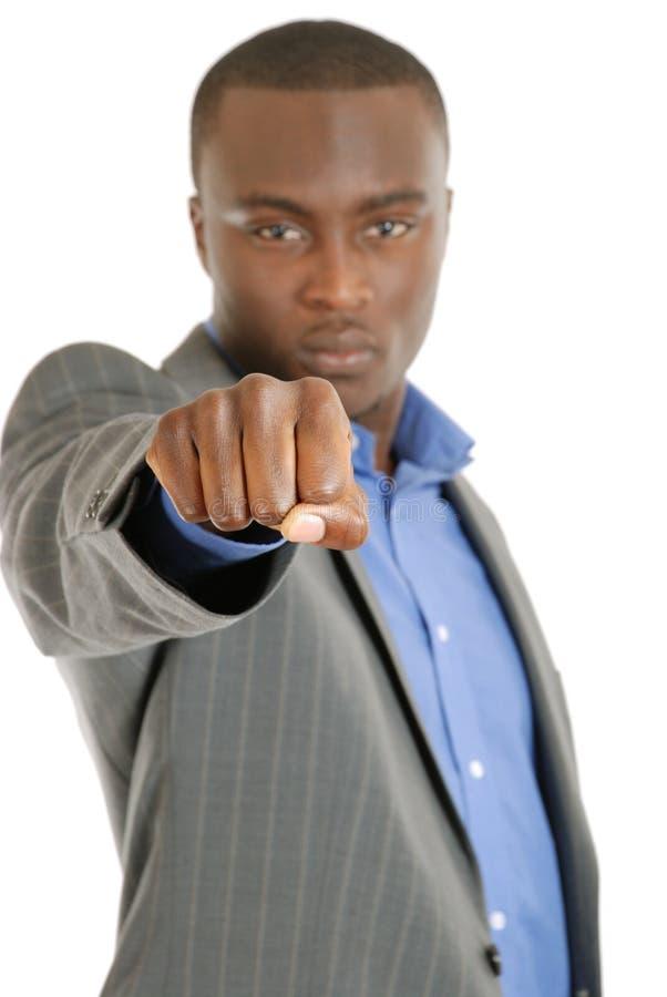 biznesowy pięści mężczyzna znak obraz stock