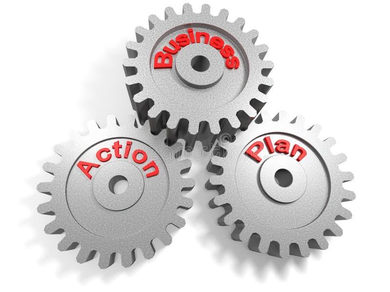 Biznesowy plan działania ilustracja wektor