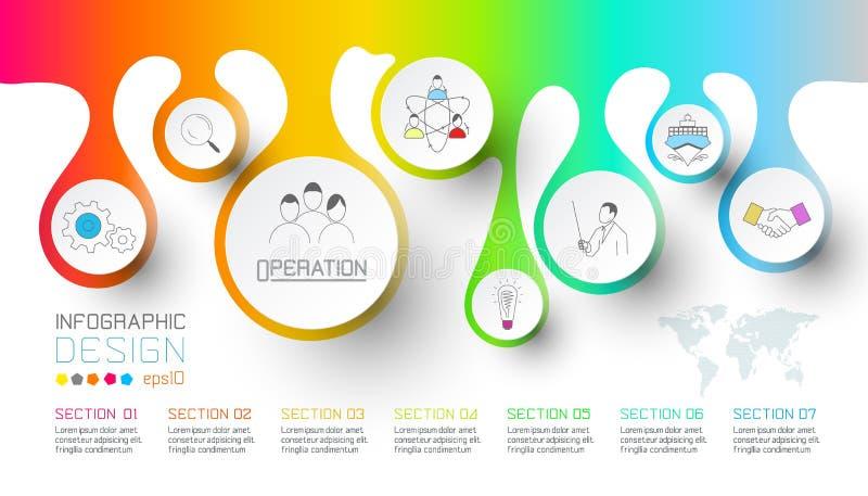 Biznesowy pluśnięcie wody kropli etykietki kształtuje infographic ilustracja wektor