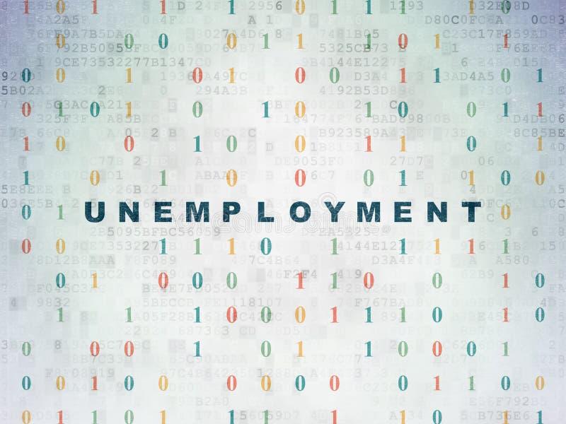 Biznesowy pojęcie: Bezrobocie na cyfrowym obrazy stock
