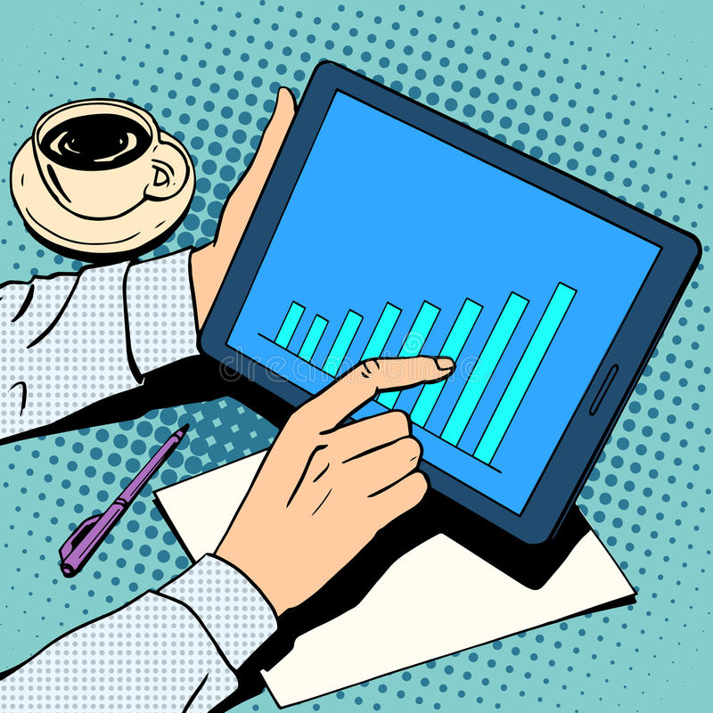 Biznesowy pojęcie biznesmena rozkładu przyrost ilustracji