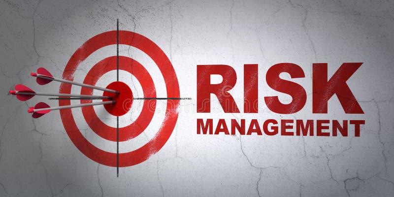 Biznesowy pojęcie: cel dalej i zarządzanie ryzykiem royalty ilustracja