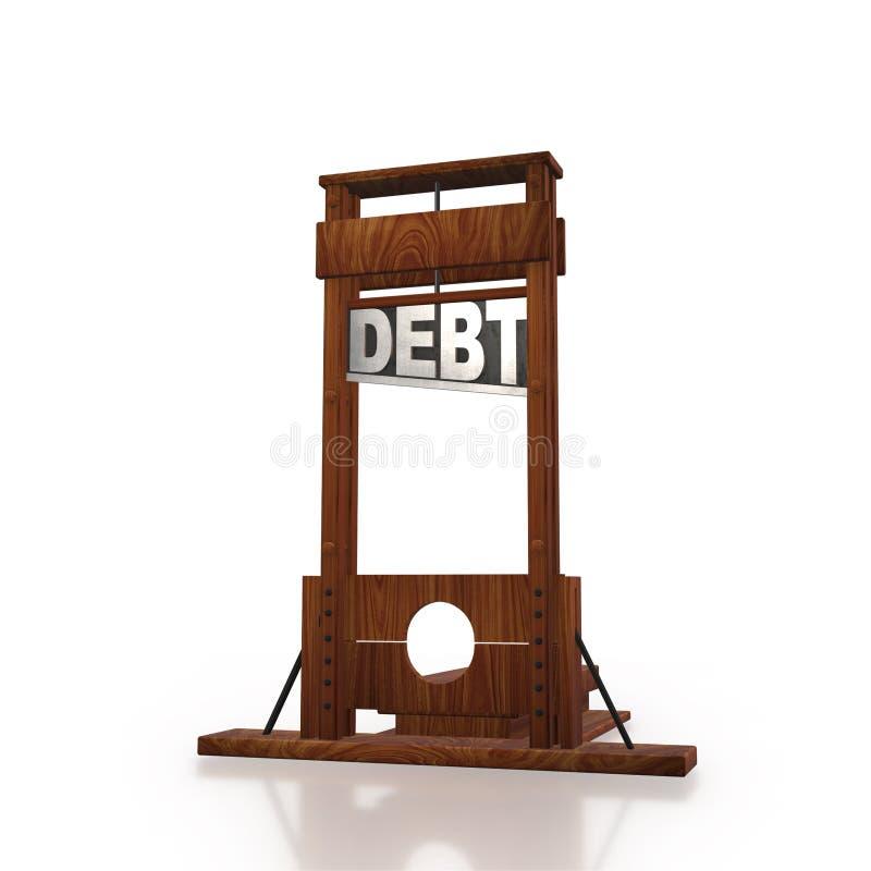 Biznesowy pojęcie dług i pożyczanie - 3d rendering ilustracji