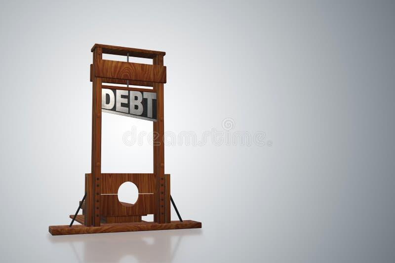 Biznesowy pojęcie dług i pożyczanie - 3d rendering royalty ilustracja