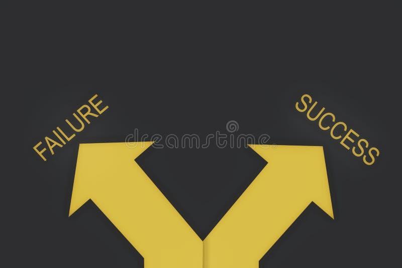 Biznesowy pojęcie i podejmowanie decyzji pomysł ilustracja wektor