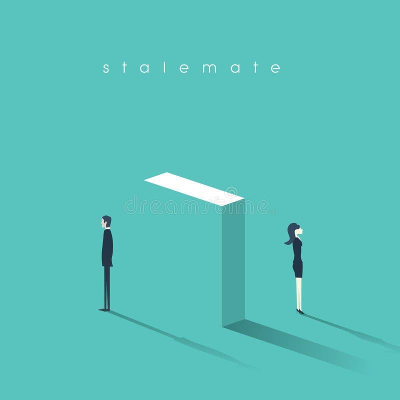 Biznesowy pojęcie konflikt między pracownikami przy pracą Rodzaj konfrontaci i różnicy symbol w komunikaci ilustracji
