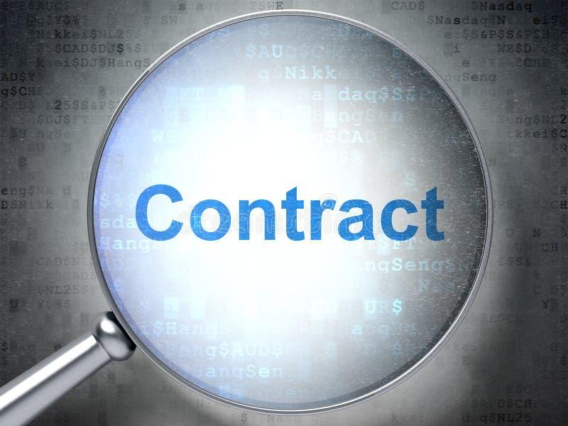 Biznesowy pojęcie: Kontrakt z okulistycznym szkłem royalty ilustracja