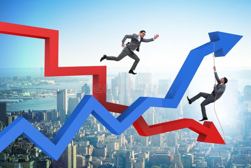 Biznesowy pojęcie kryzys i wyzdrowienie ilustracja wektor