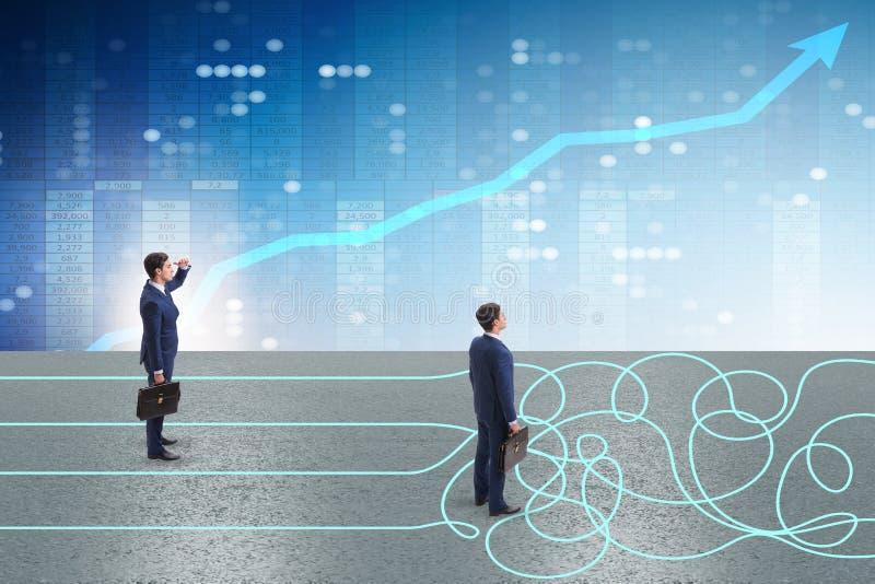 Biznesowy pojęcie niepewność i zamieszanie obraz stock
