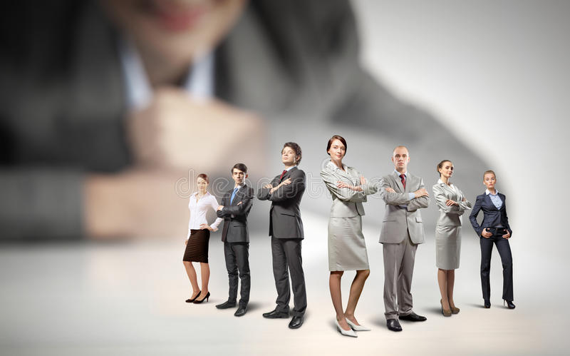 biznesowy pojęcie odizolowywający drużynowy biel zdjęcie stock