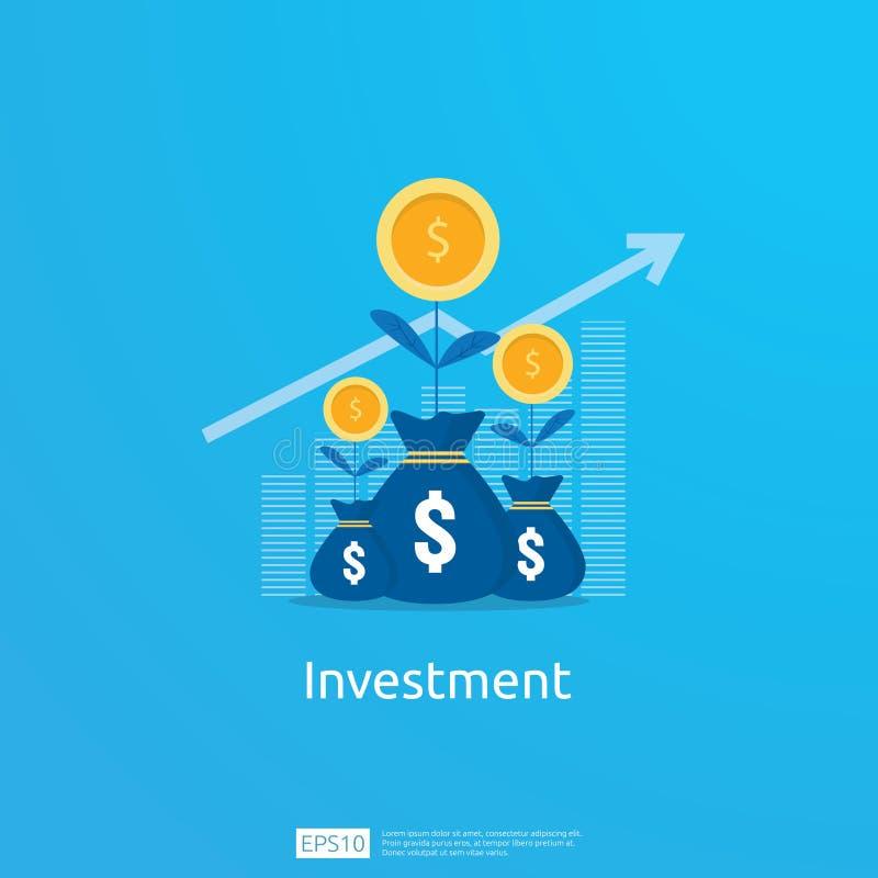 Biznesowy pojęcie osiągnięcie cel Wskaźnika rentowności ROI wzrok wzrostowe strzały sukces wykres mapy wzrosta zysk z royalty ilustracja