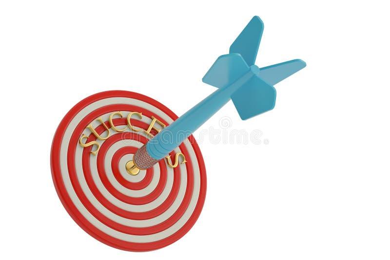 Biznesowy pojęcie sukcesu cel i strzałki ilustracja 3 d ilustracja wektor