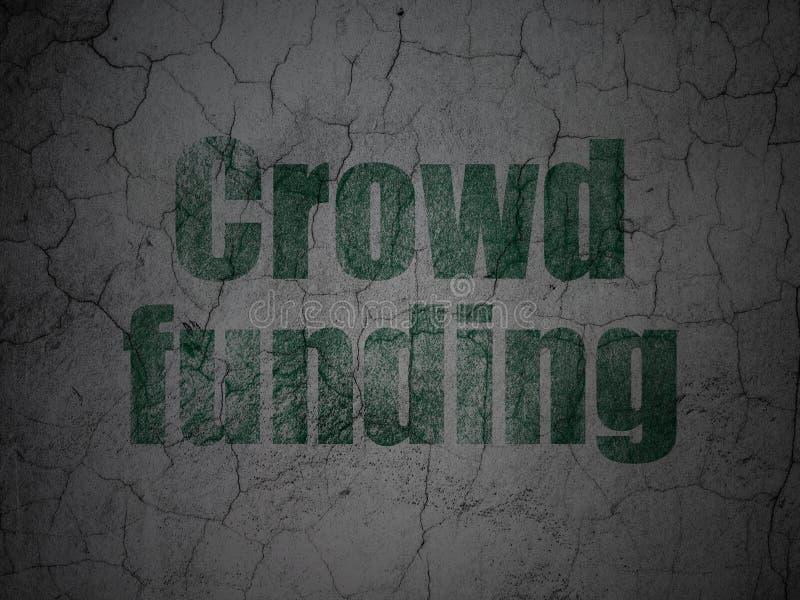 Biznesowy pojęcie: Tłumu finansowanie na grunge ścianie royalty ilustracja