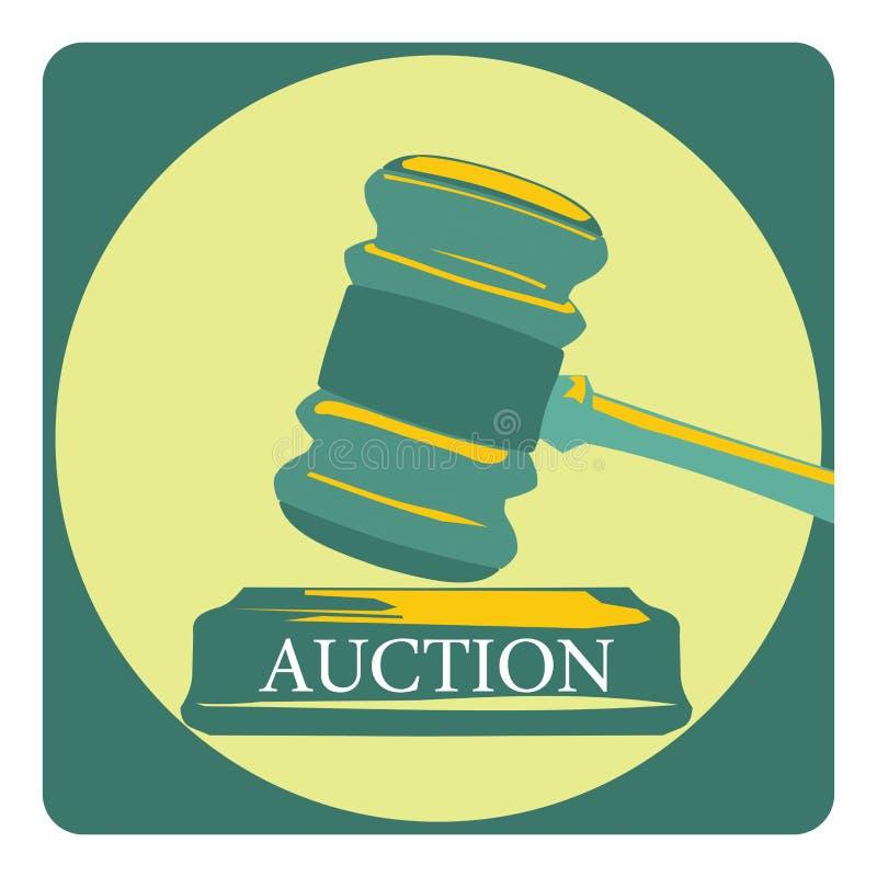 Biznesowy pojęcie z aukcja znakiem ilustracja wektor