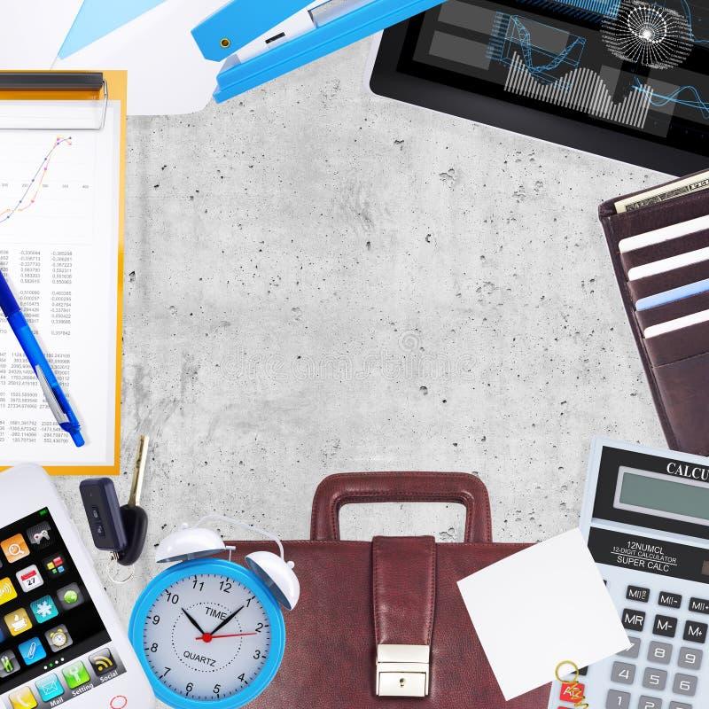 Biznesowy pojęcie z biurem i biznesowa praca ilustracji