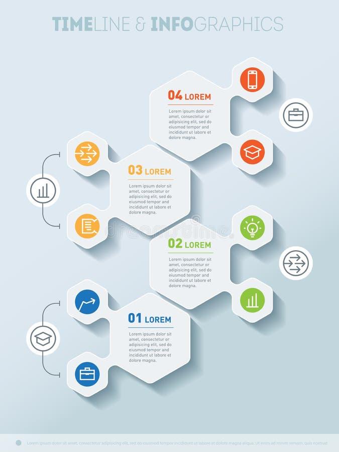 Biznesowy pojęcie z cztery opcjami Część raport z ikoną ilustracji