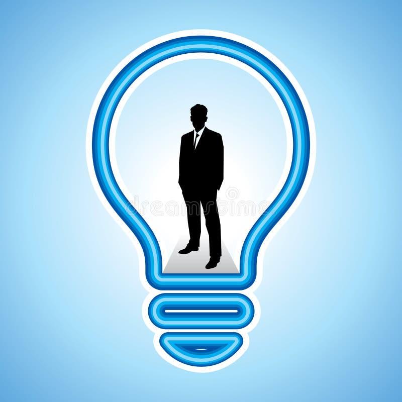 Biznesowy pojęcie z nowym pomysłem ilustracja wektor