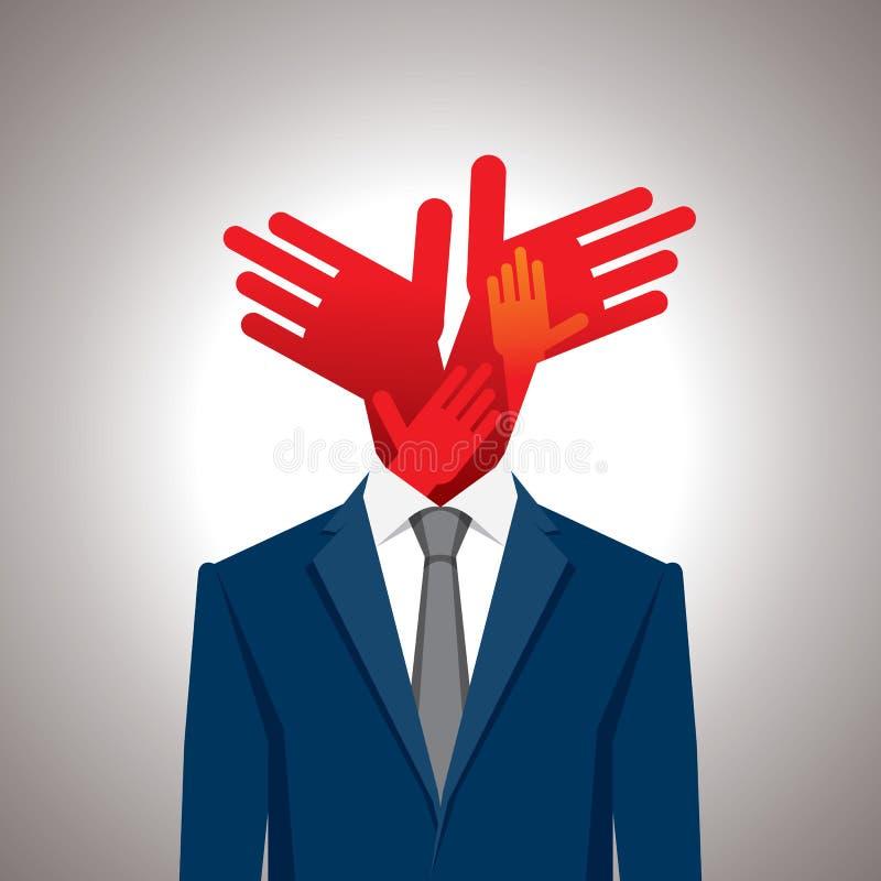 Biznesowy pojęcie z rękami royalty ilustracja