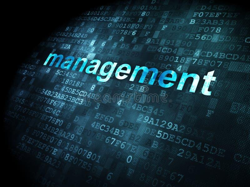 Biznesowy pojęcie: Zarządzanie na cyfrowym tle fotografia royalty free