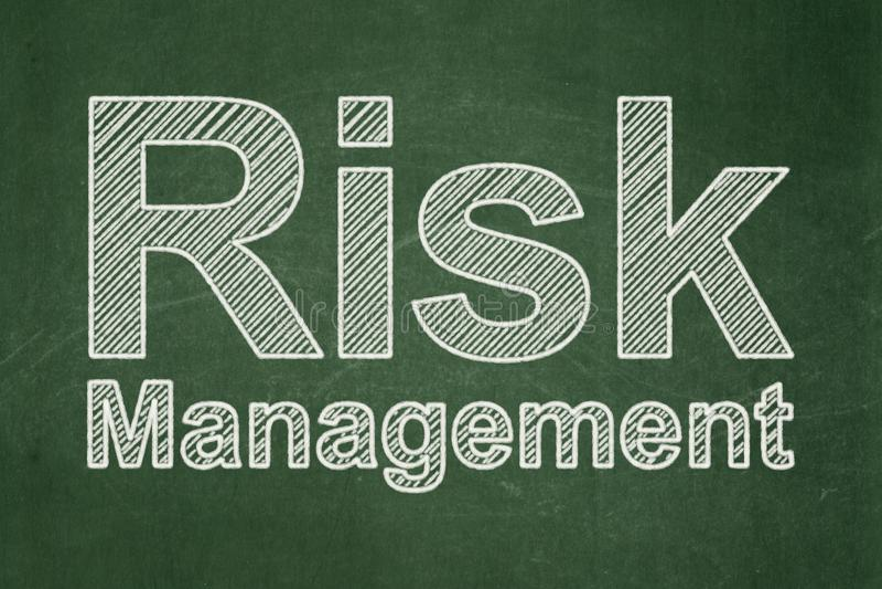 Biznesowy pojęcie: Zarządzanie Ryzykiem na chalkboard tle royalty ilustracja