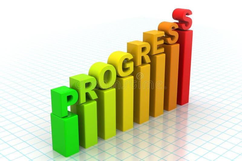Biznesowy postępu wykres ilustracja wektor