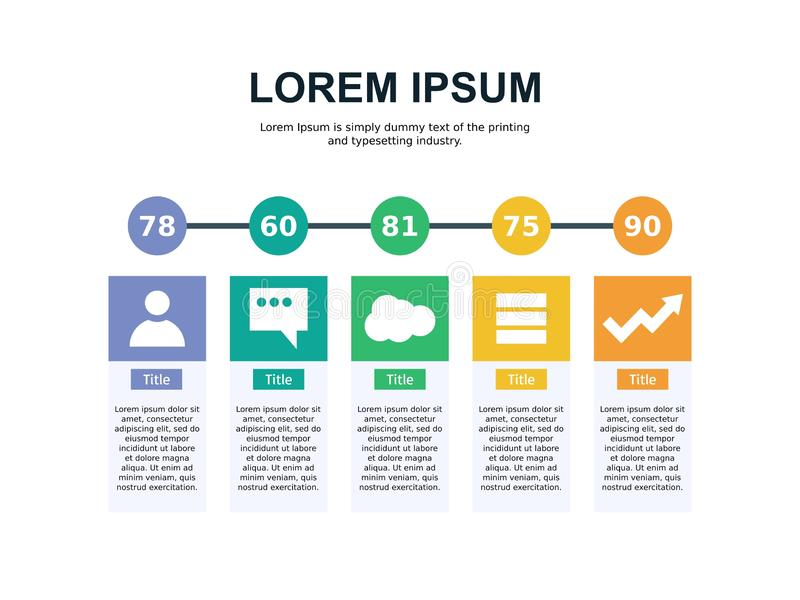 Biznesowy Powerpoint prezentaci szablonu tło Używa w prezentacja szablonach, ulotce i ulotce, korporacyjny raport, marketi ilustracji
