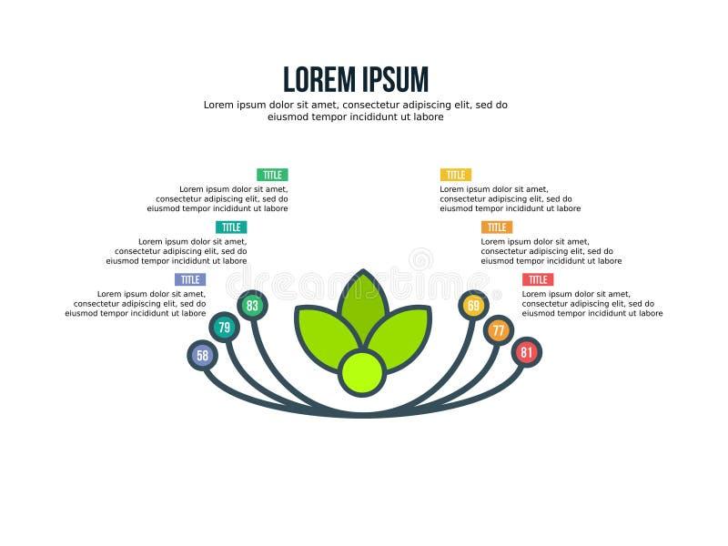 Biznesowy Powerpoint prezentaci szablonu tło Używa w prezentacja szablonach, ulotce i ulotce, korporacyjny raport, marketi ilustracja wektor