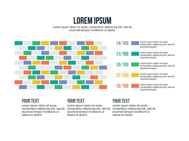 Biznesowy Powerpoint prezentaci szablonu tło Używa w prezentacja szablonach, ulotce i ulotce, korporacyjny raport, marketi royalty ilustracja