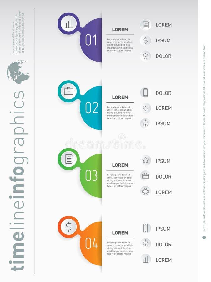 Biznesowy prezentaci pojęcie z 4 opcjami Pionowo infograph royalty ilustracja