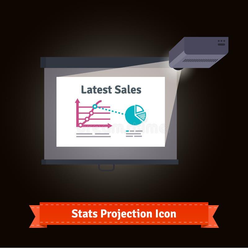 Biznesowy prezentacja projektor ilustracji