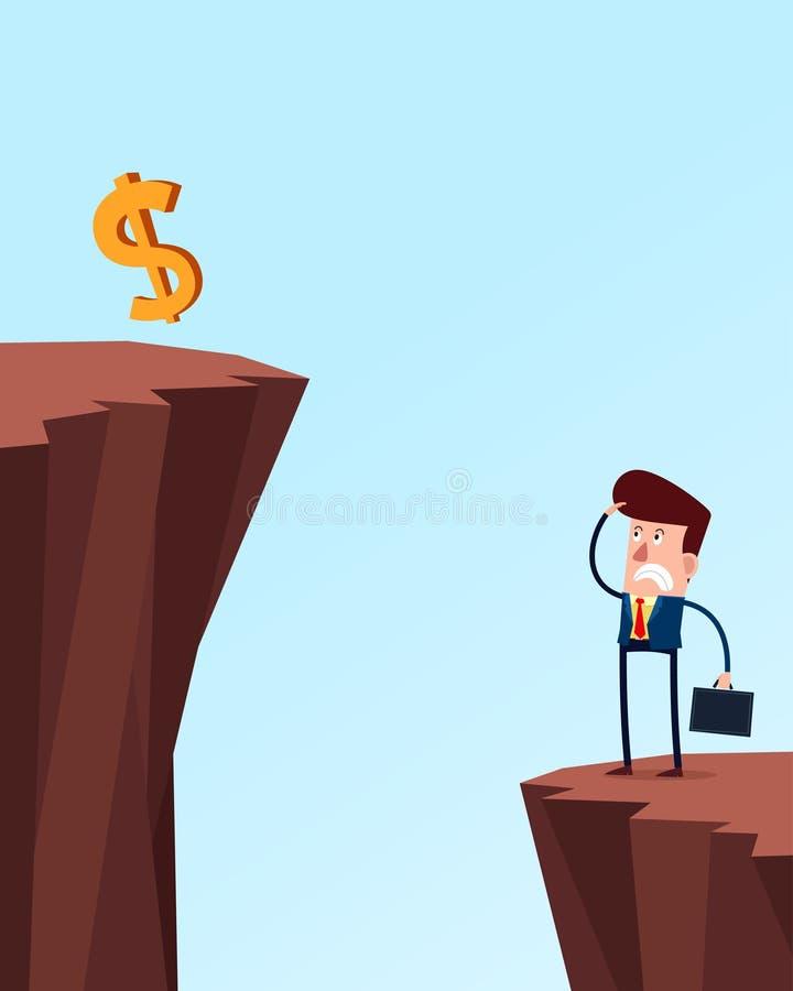 Biznesowy problem royalty ilustracja
