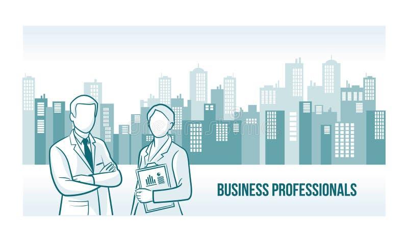 Biznesowy profesjonalisty sztandar ilustracja wektor