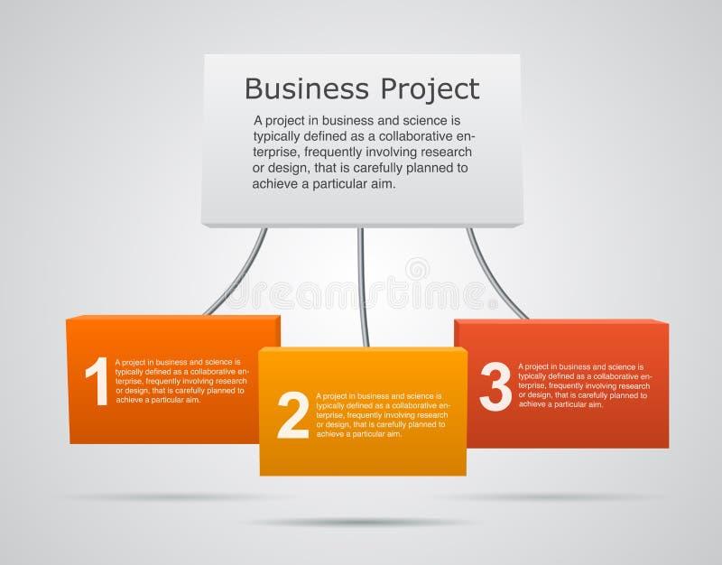 Biznesowy projekta szablon z tekstów terenami ilustracji