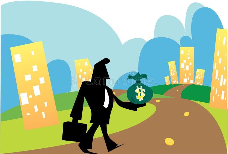 biznesowy przyrost royalty ilustracja