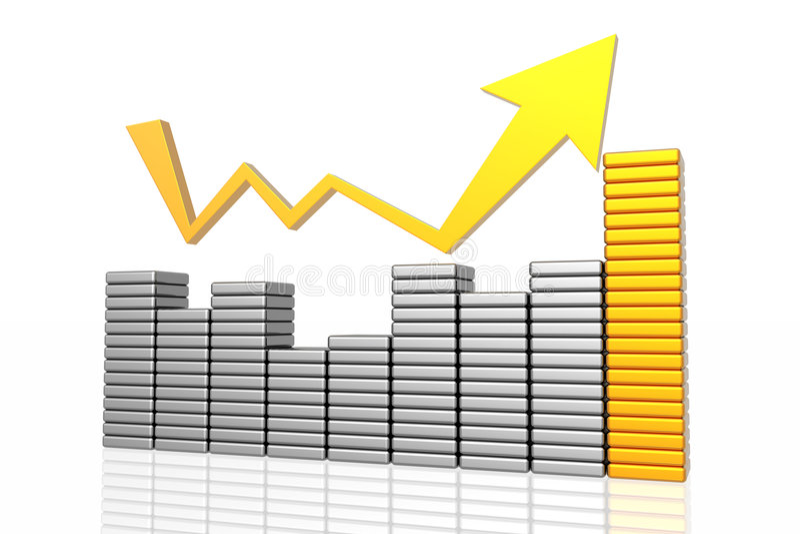 biznesowy przyrost ilustracja wektor