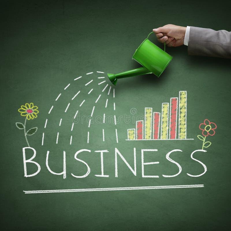 Biznesowy przyrost Ręka wskazuje biznesową mapę fotografia royalty free