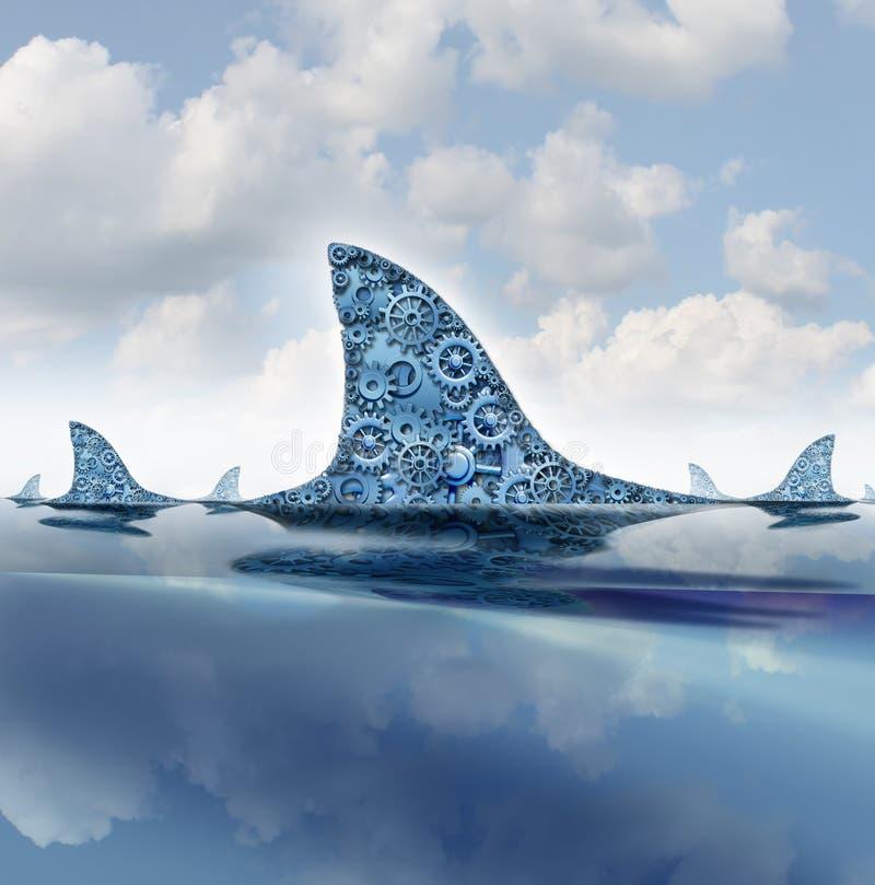 Biznesowy rekin ilustracja wektor