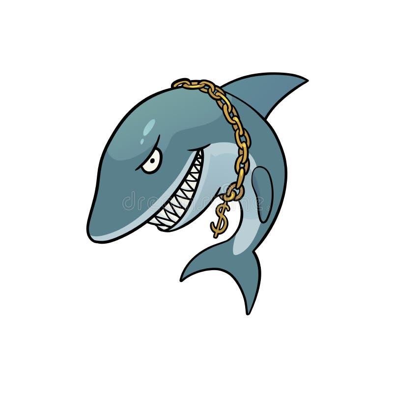 Biznesowy rekin ilustracji