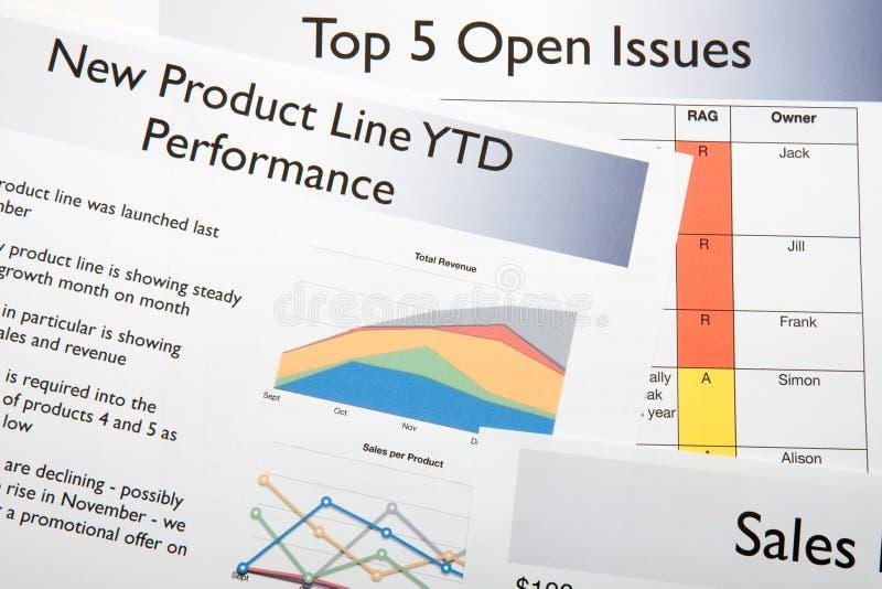 biznesowy rodzajowy raport zdjęcie stock