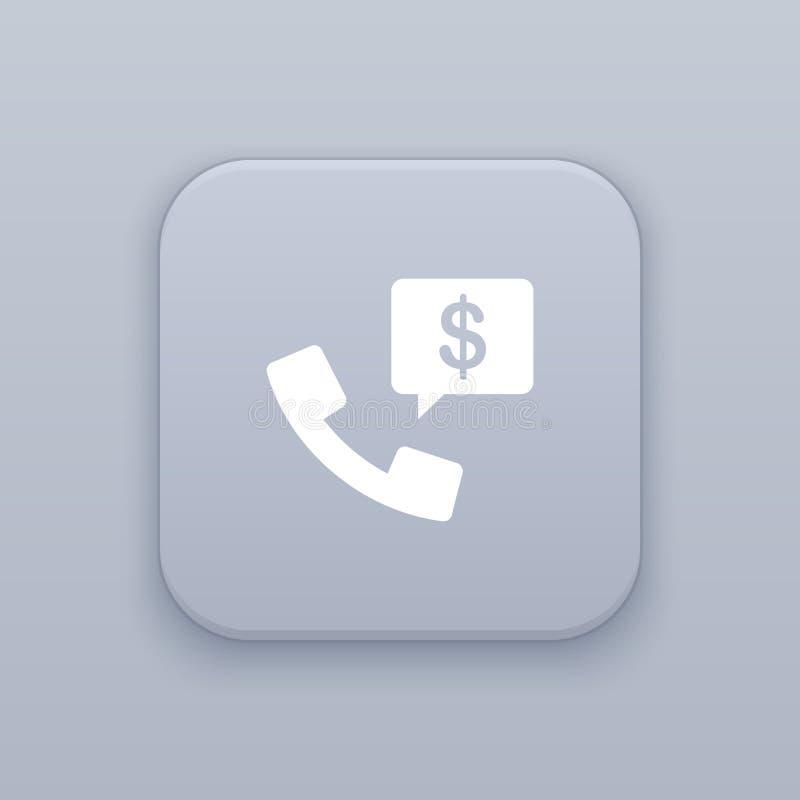 Biznesowy rozmowa telefonicza guzik, najlepszy wektor ilustracji