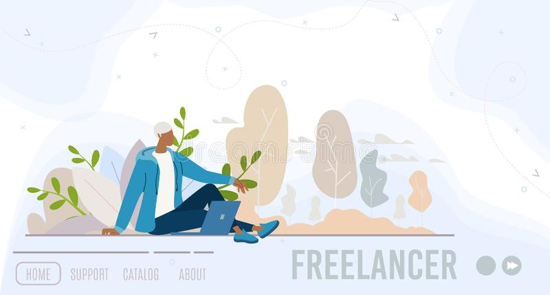 Biznesowy rozpoczęcie dla Odległej praca wektoru strony internetowej ilustracja wektor