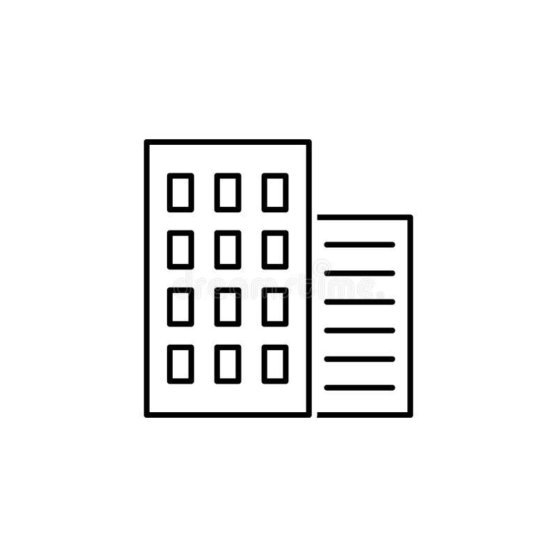 biznesowy seo, biurowa blokowej linii ikona Praca zespołowa przy pomysłem Znaki i symbole mog? u?ywa? dla sieci, logo, mobilny ap ilustracja wektor