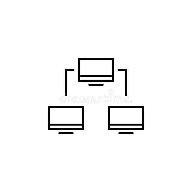 biznesowy seo, networking kreskowa ikona Praca zespołowa przy pomysłem Znaki i symbole mog? u?ywa? dla sieci, logo, mobilny app,  royalty ilustracja