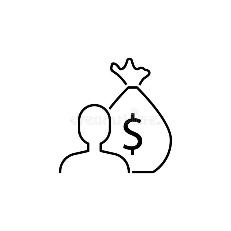 biznesowy seo, pensji kreskowa ikona Praca zespołowa przy pomysłem Znaki i symbole mog? u?ywa? dla sieci, logo, mobilny app, UI,  ilustracji